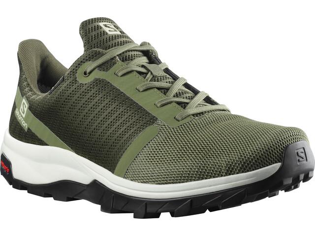 Salomon Outbound PRISM GTX Shoes Men, deep lichen green/olive night/vanil